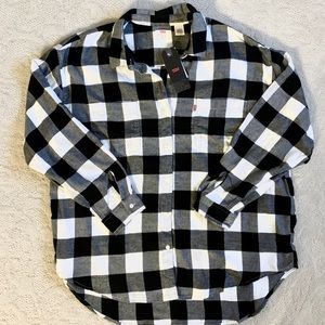 *NEW* Women's Levi's Plaid Utility Shirt Size XL